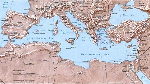 map of middle east and europe. mediterranean-sea-map-israel-