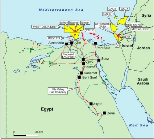 natural gas israel palestine gaza image map
