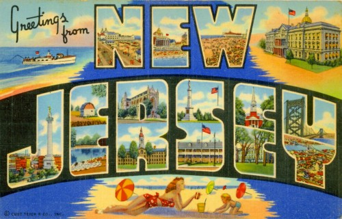 postcard from new jersey image