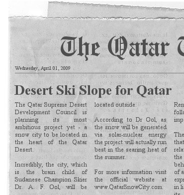 ool-snow-qatar april fool joke