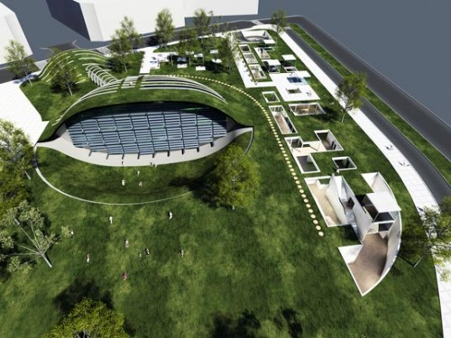 Globe ecological hub recently proposed for israeli city of for Eco green builders